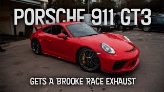 Porsche 911 GT3 gets a Brooke Race Exhaust