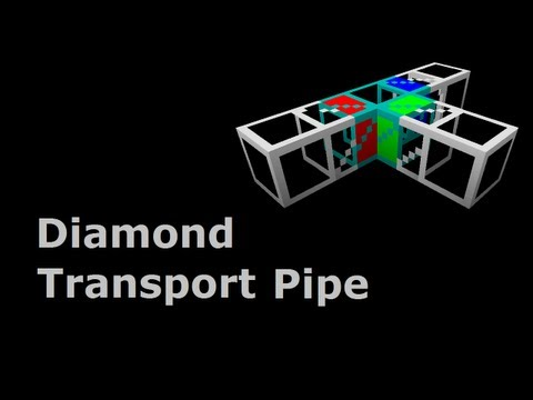 Diamond Transport Pipe (Tekkit/Feed The Beast) - Minecraft In Minutes