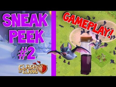 Bat Spell GAMEPLAY & Mechanics! New Clash Of Clans Dark Spell (Sneak Peek #2)