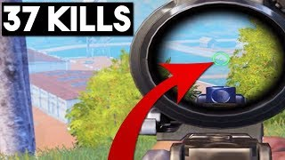 LONGEST KILL EVER WITH 2X + BEST NO-SCOPE EVER! | 37 KILLS | PUBG Mobile