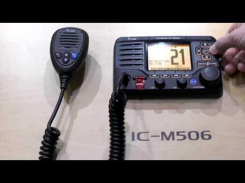 Introducing the Icom IC-M506 Marine Radio with AIS Receiver