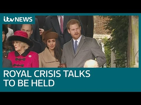 Queen summons Royals to resolve Meghan and Harry crisis | ITV News