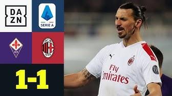 Milan verspielt kurz vor Schluss den Sieg: AC Florenz - AC Mailand 1:1 | Serie A | DAZN Highlights