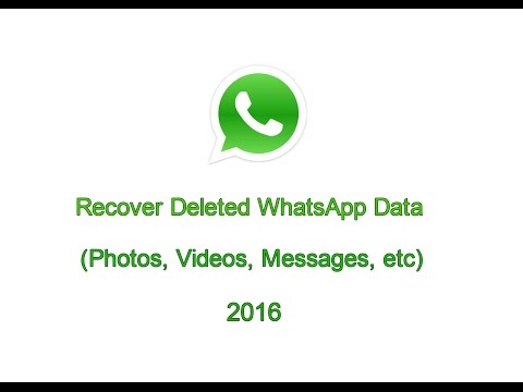 How to Recover Deleted WhatsApp Messages in Android - 2016