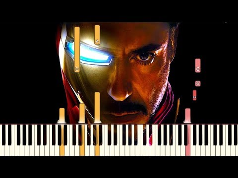 Avengers: Endgame - The Real Hero  Piano Tutorial Synthesia