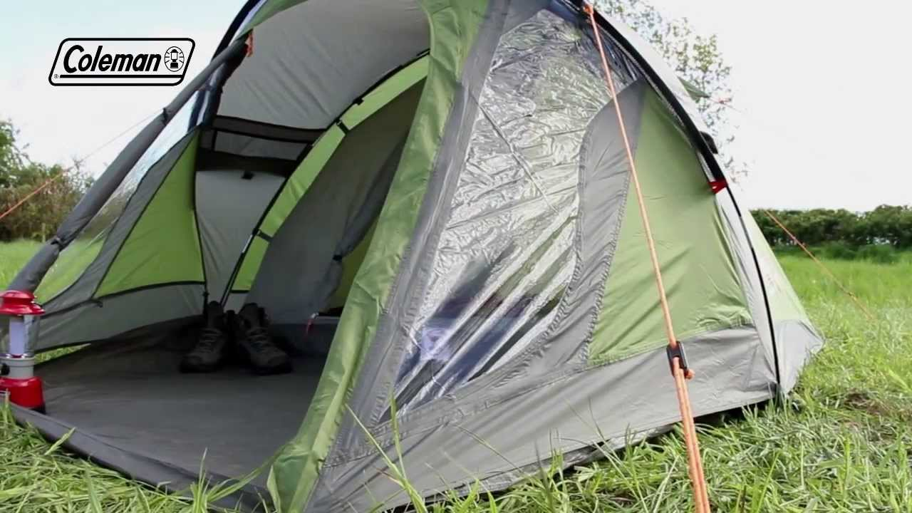 & Coleman® Darwin 3 Plus - Weekend Camping Tent - YouTube