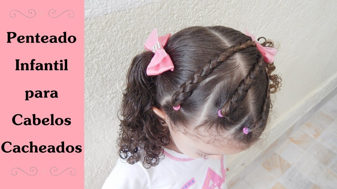 Penteado Para Escola Simples E Fácil Penteado Infantil Para Cabelos Cacheados