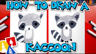How To Draw A Cartoon Raccoon