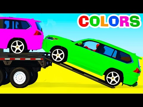 Thumbnail: Colors SUV Cars Transportation - Learn Numbers with Superhero & Colors for Kids Educational Video