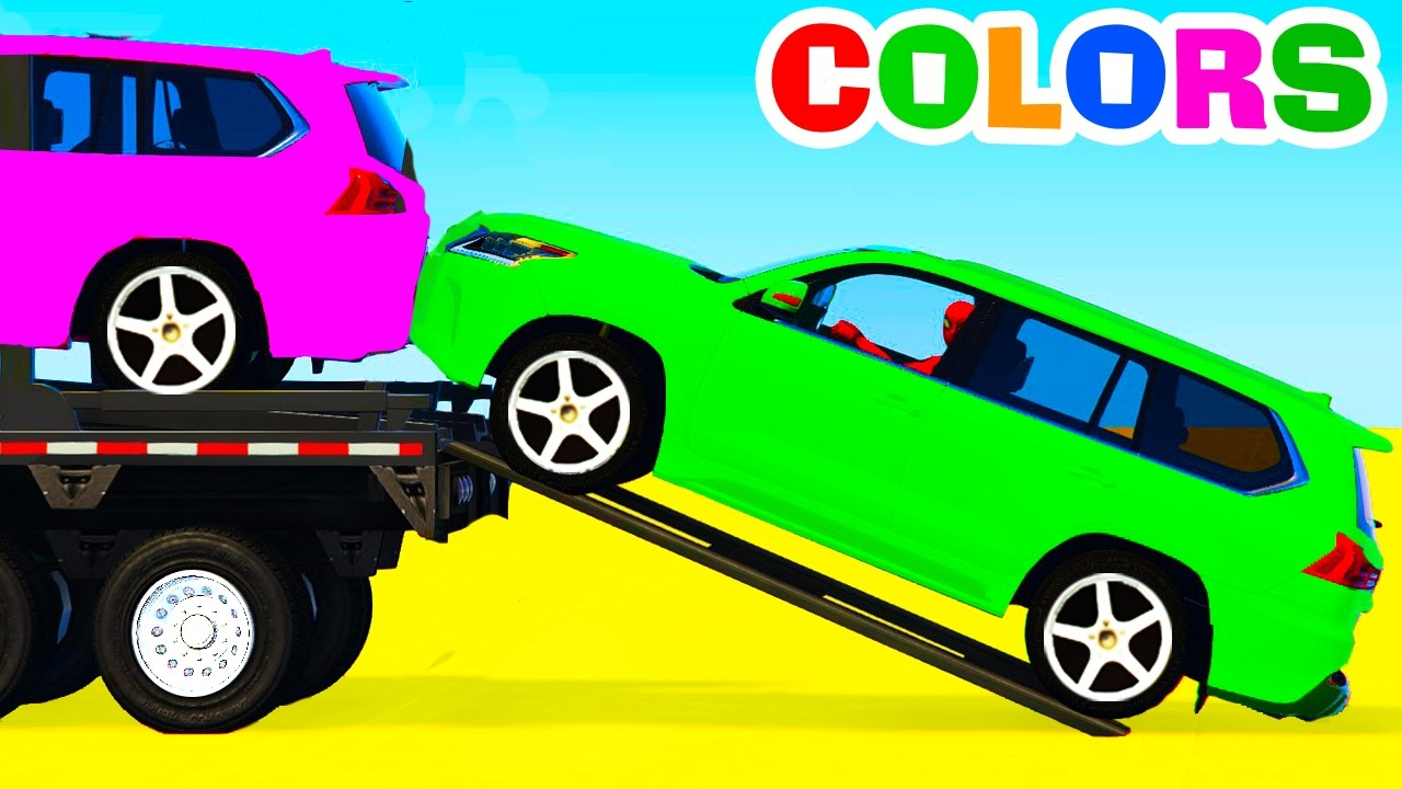 Colors SUV Cars Transportation - Learn Numbers with Superhero ...