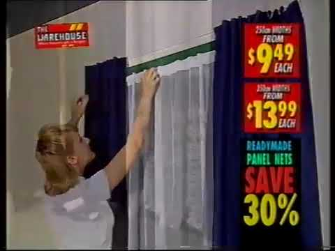 THE WAREHOUSE 1998 CURTAIN SALE