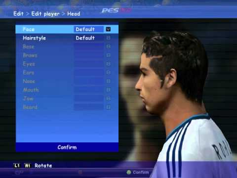 Nova Face Hair Cr7 Cnaldo Pes 2010 Youtube