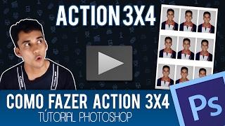 Como fazer ação 3x4 - Entendendo Actions | Tutorial Photoshop