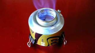 """Chimney Jet"" Alcohol Stove - burning sound"