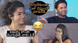 Rashmika Mandanna About Her Crush | Nithin | Bheeshma Movie Interview | News Buzz