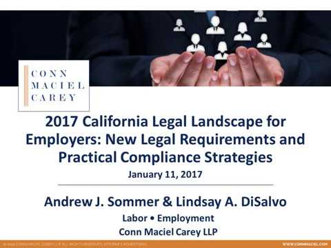 California Employment Law Update for 2017