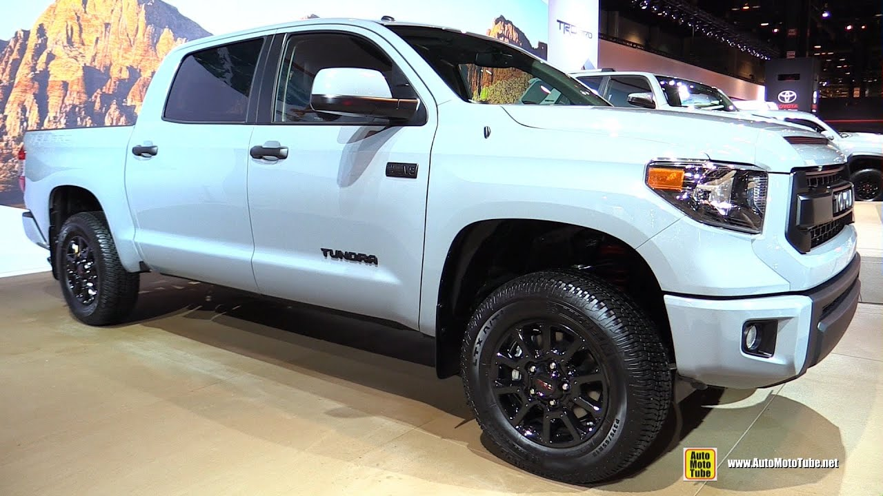 2016 toyota tundra trd pro exterior and interior walkaround 2016 chicago auto show youtube. Black Bedroom Furniture Sets. Home Design Ideas