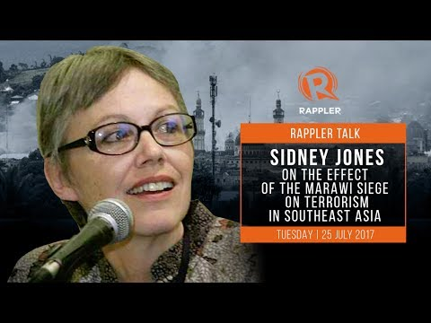 Rappler Talk: Sidney Jones on the effect of the Marawi siege on terrorism in Southeast Asia
