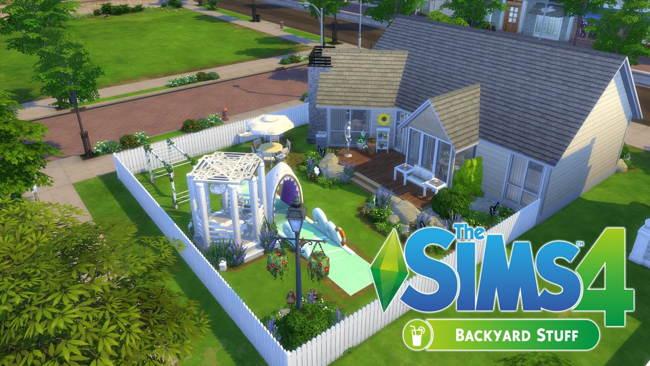 Backyard Dreams the sims 4 speed build | backyard stuff | backyard dreams - youtube