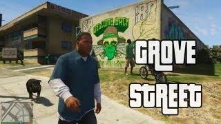 GROVE STREET EN GTA V + BONUS CLIP
