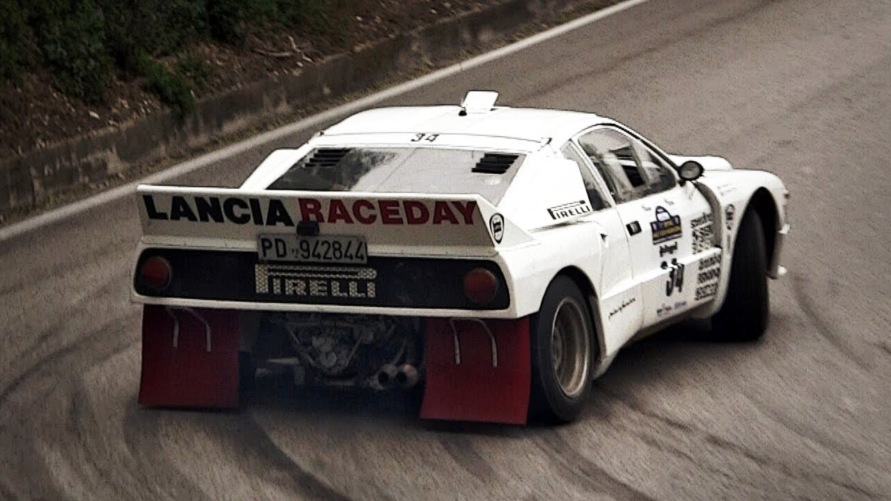 Lancia Rally 037 Group B Pure Sound - Warm Up, Accelerations ...