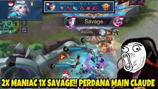 PERDANA MAZE MAIN CLAUDE HYPER 2x MANIAC + SAVAGE TEAM GA KEBAGIAN KILL - Mobile Legends