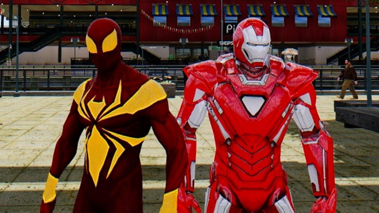 IRON SPIDER-MAN VS IRON MAN (SILVER CENTURION) - YouTube