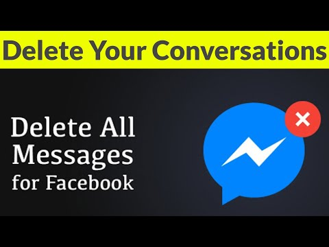 How To Delete All Conversation(Messages) On Facebook Messenger Permanently-Remove Chat History-2020