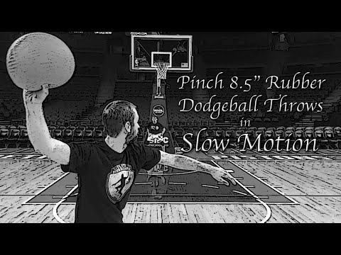 """Pinch 8.5"""" Rubber Dodgeball Throws in SLOW MOTION"""