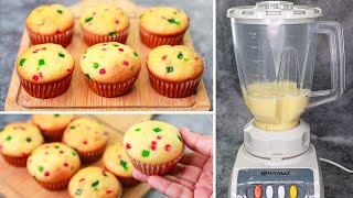 Cup Cake in Blender  Cup Cake Recipe Without Oven  Yummy