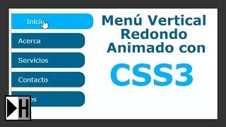 Crear un Menú Vertical con Bordes Redondos con Animaciones CSS3