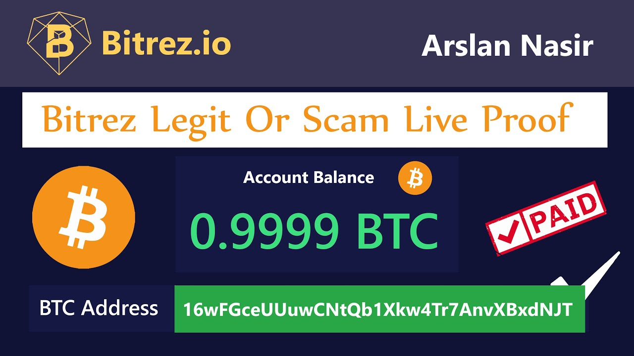 Bitrez.io New Free Bitcoin Earning Site Legit Or Scam Live ...