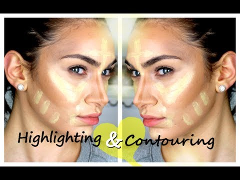 My Cream Contouring & Highlighting Routine (Like Kim Kardashian's ...