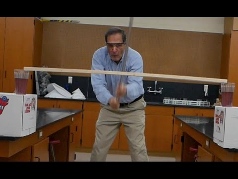 Breaking Pole Paradox- center of mass // Homemade Science with Bruce Yeany