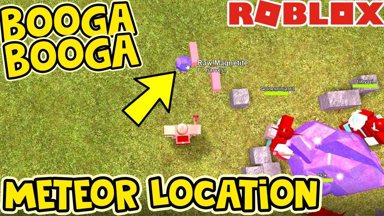 How To Get The Meteor In Booga Booga Roblox Youtube