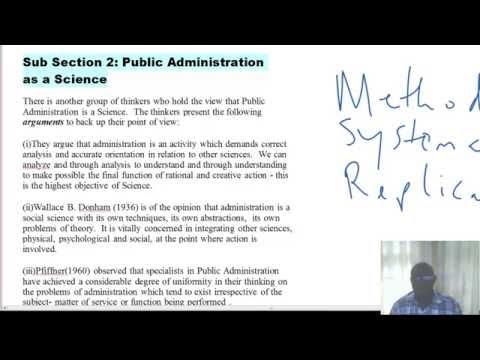 PUB 101_STUDY SESSION THREE_PUBLIC ADMIN-A SCIENCE OR AN ART