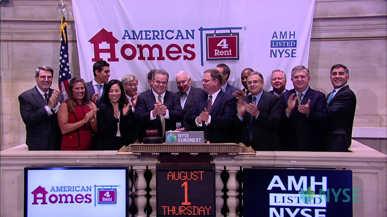 American Homes 4 Rent Lists Ipo On The Nyse Youtube