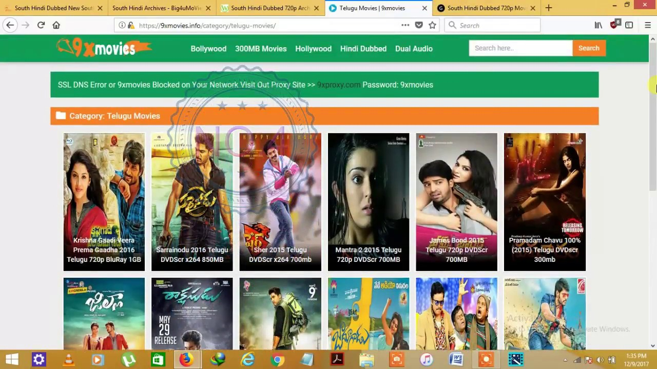 south indian dubbed movie websites