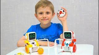 Роботы которые умеют играть в ФУТБОЛ и БОУЛИНГ - Игрушки Silverlit KickaBot - Robotic ball shooting