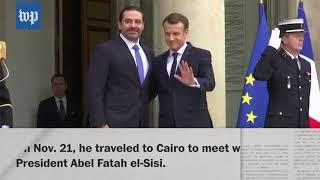 Saad Hariri returns to Lebanon, suspends his resignation