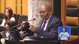Funny Parliament. Lechesa Tsenoli Telling MP To Go Outside For Fresh Air