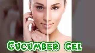 Cucumber gel for dark dots and dark spots in skin ☺Handmade beauty tips