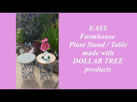 DIY Dollar Tree Farmhouse Home Decor Plant Stand / Table