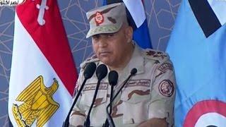 كلمة وزير الدفاع الفريق أول صدقي صبحي في الذكرى 43 لانتصارات أكتوبر