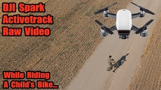 DJI Spark Activetrack RAW Video-While Riding A Bike!