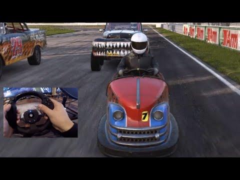 WRECKEST Online vs Wireless Wheel!! Retro Rammers DLC!! 1958 Plymouth Fury Skidpad Run!