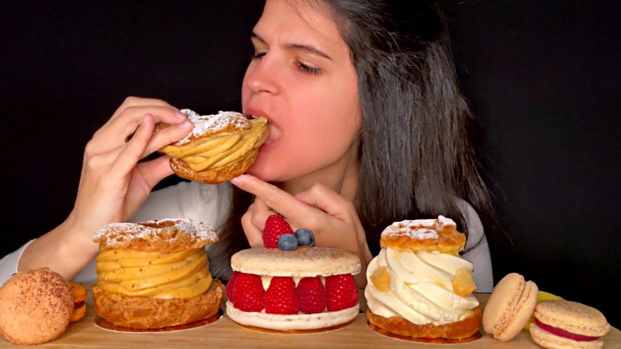ASMR | MACARONS, PARIS-BREST & CHOUX | EATING SOUNDS | MUKBANG