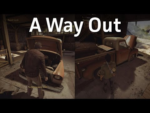 A Way Out: Trying on hats and fixing a truck is always better in co-op