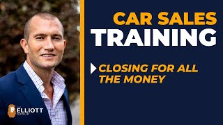 Car Sales-Never Negotiate Again! Close with 100% Money Justification! Be Unstoppable On The Pencil!
