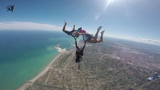 500 jumps celebration over the Mediterranean sea. Freefly & Angletracking.
